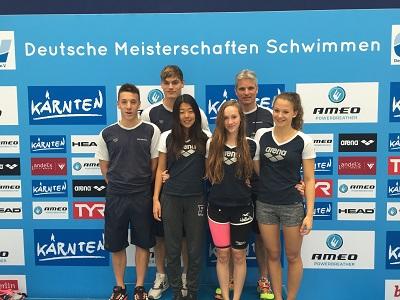 Leistungsgruppe 1 (LG1) des Schwimmclub Westerbach Eschborn (SCWE)