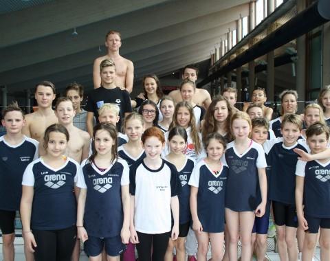 Die Leistungsgruppen des Schwimmclub Westerbach Eschborn (SCWE) beim 36. Oranierschwimmfest in Dillenburg 2016
