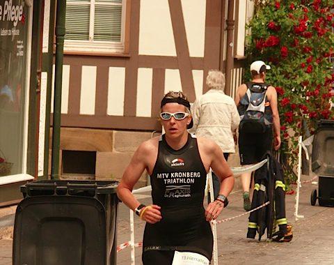 Nicole Ensminger Hessenmeisterin über die Sprintdistanz im Triathlon 2016